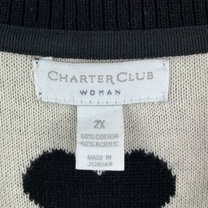 Charter Club Sweaters - Charter Club Long Sleeve Heart Sweater 2X